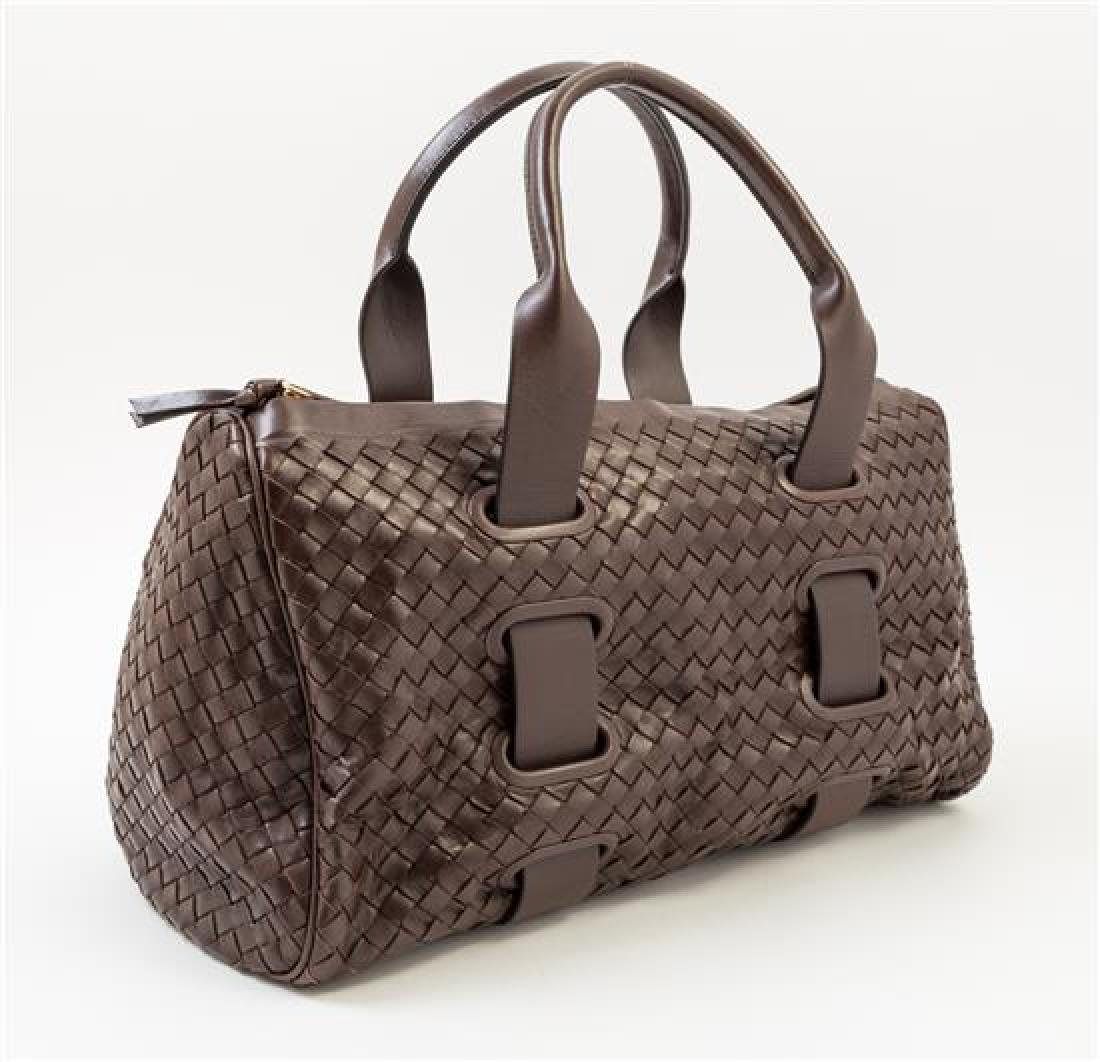 A Bottega Veneta Chocolate Intrecciato Small Duffle - 2