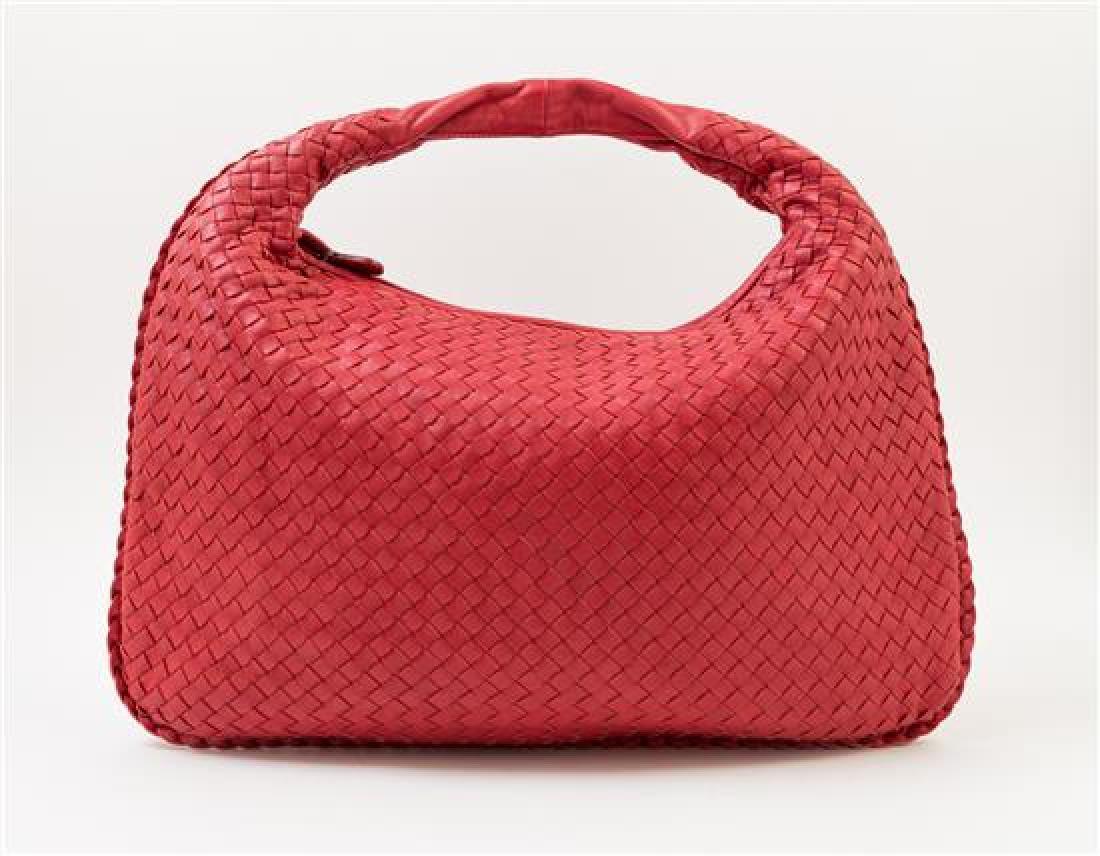A Bottega Veneta Red Intrecciato Large Hobo Bag, - 3