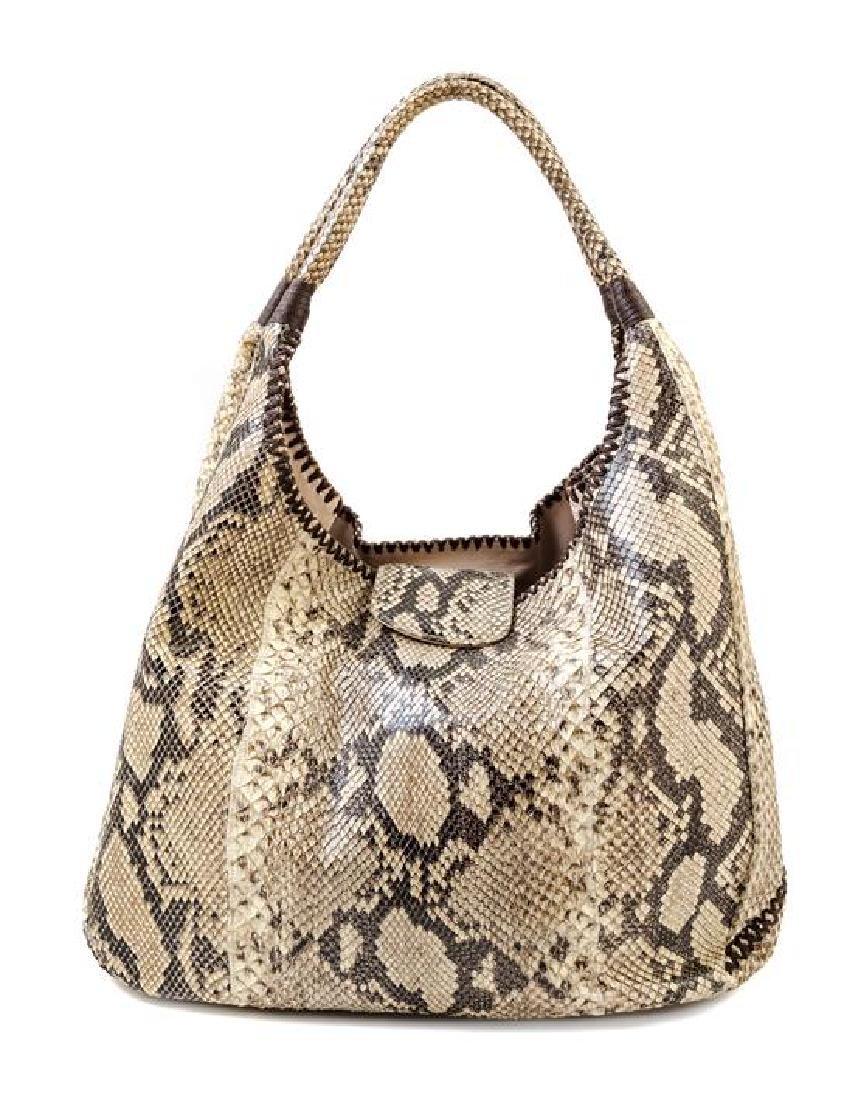 A Carlos Falchi Snakeskin Shoulder Bag,