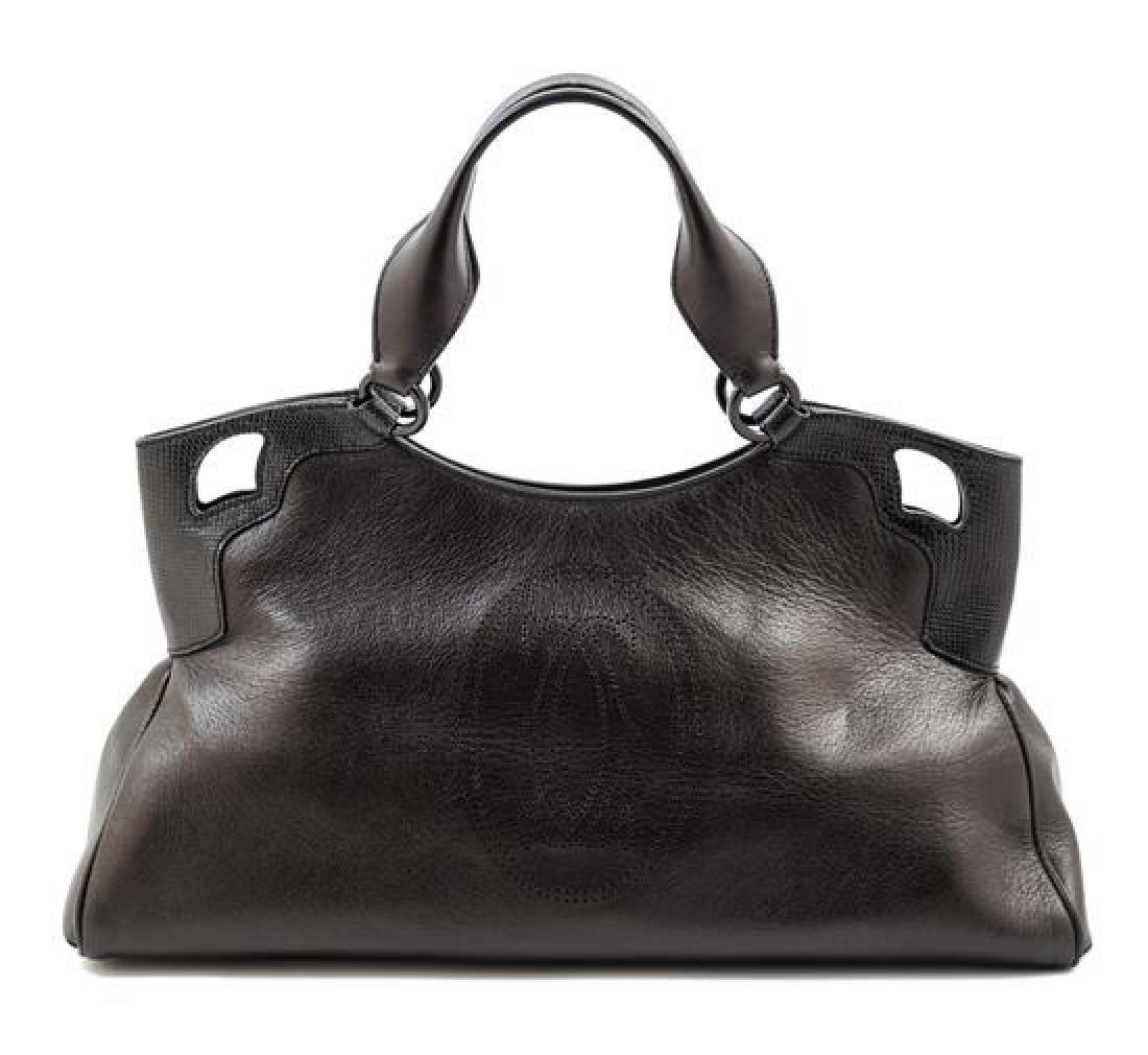 A Cartier Black Leather Marcello Satchel,