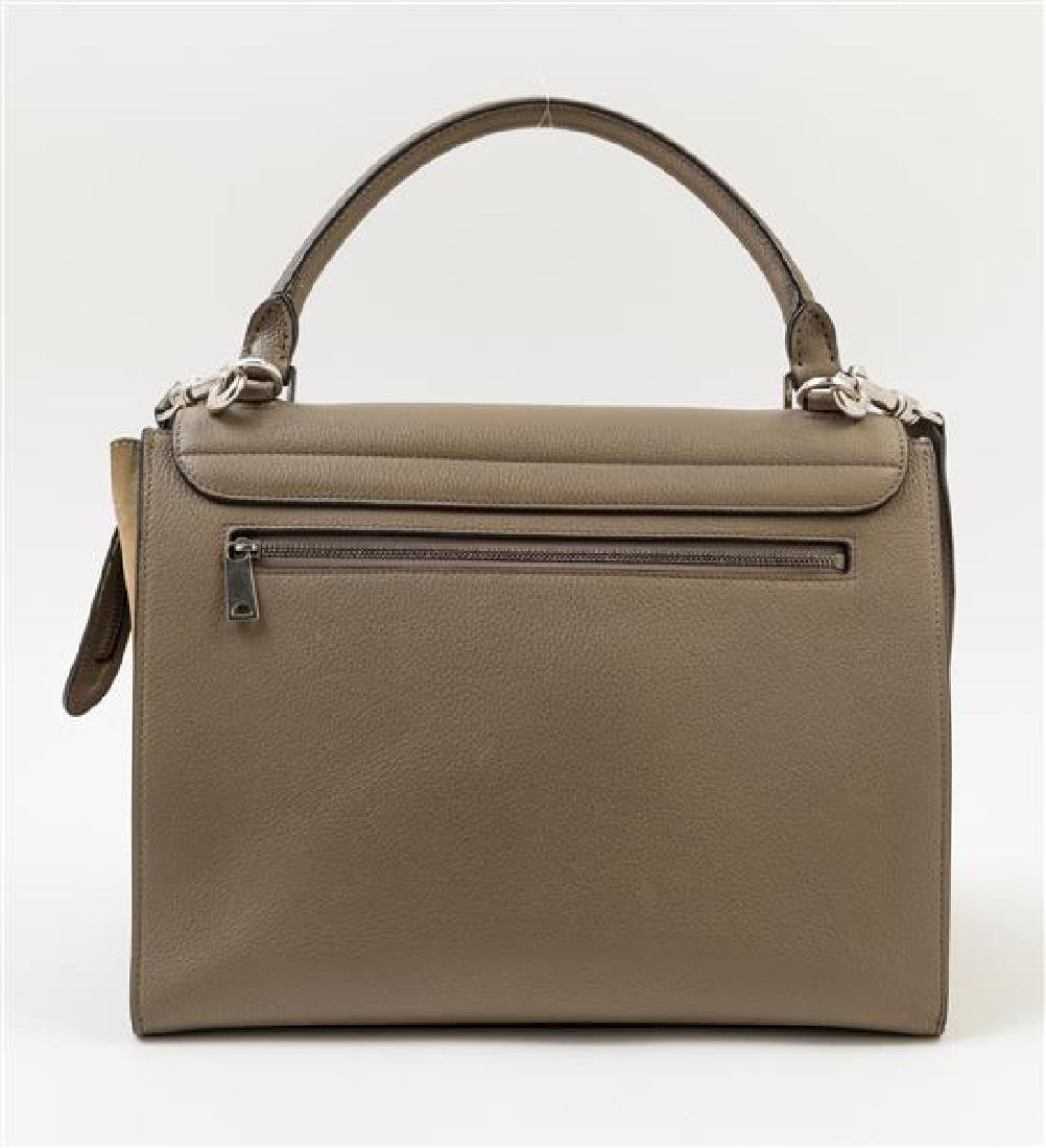 A Celine Taupe Leather and Suede Medium Trapeze - 3