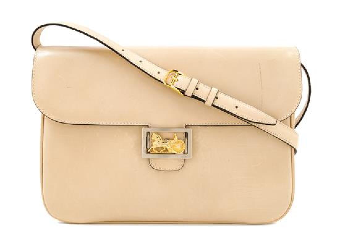 A Celine Cream Vintage Shoulder Bag,