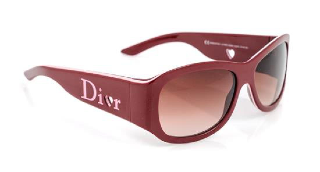 A Pair of Christian Dior Red Sunglasses,