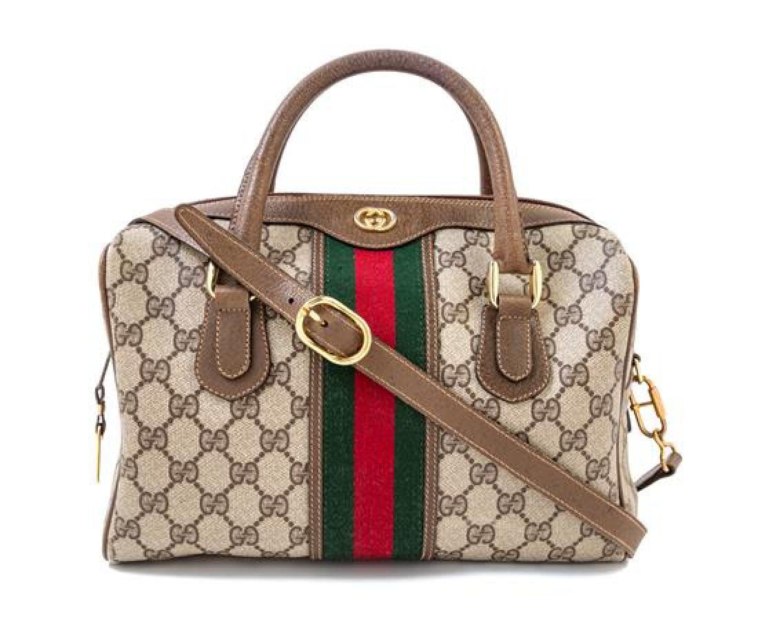 "* A Gucci Monogram Canvas Doctor's Bag, 10.5"" x 9"" x 5"";"