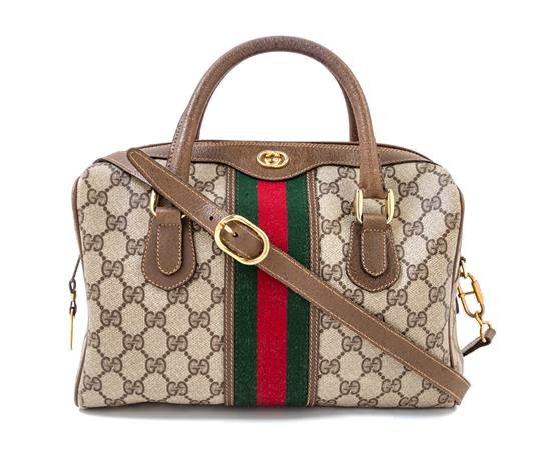 A Gucci Monogram Canvas Doctor's Bag,