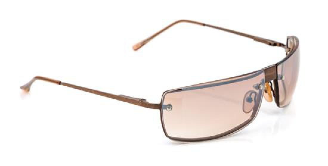 A Pair of Gucci Brown Rimless Sunglasses,
