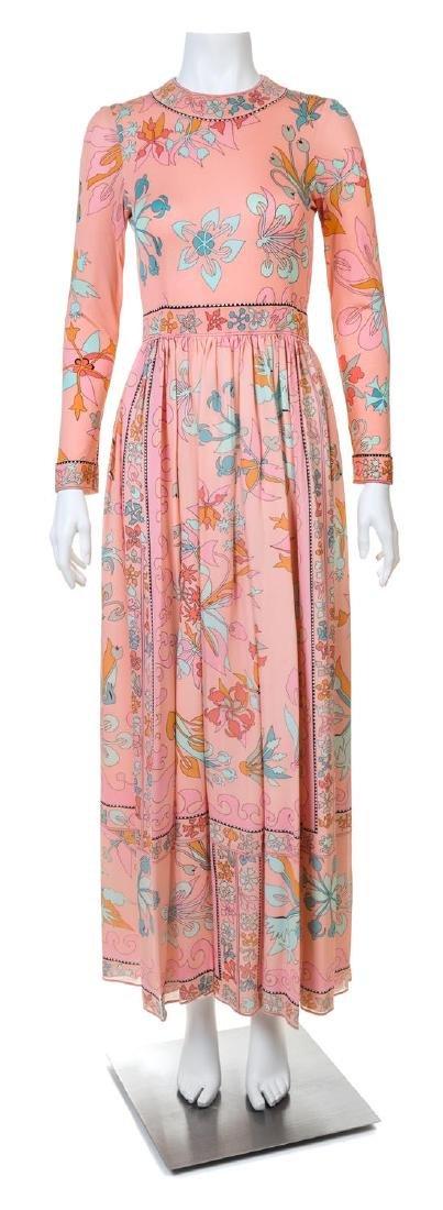 An Averardo Bessi Salmon Silk Gown,
