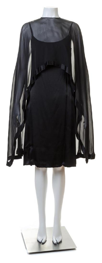 A Bill Blass Black Silk Cocktail Dress,