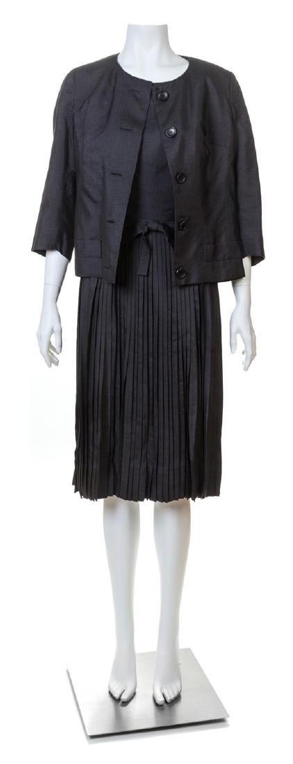 A Christian Dior Black Silk Dress and Jacket,
