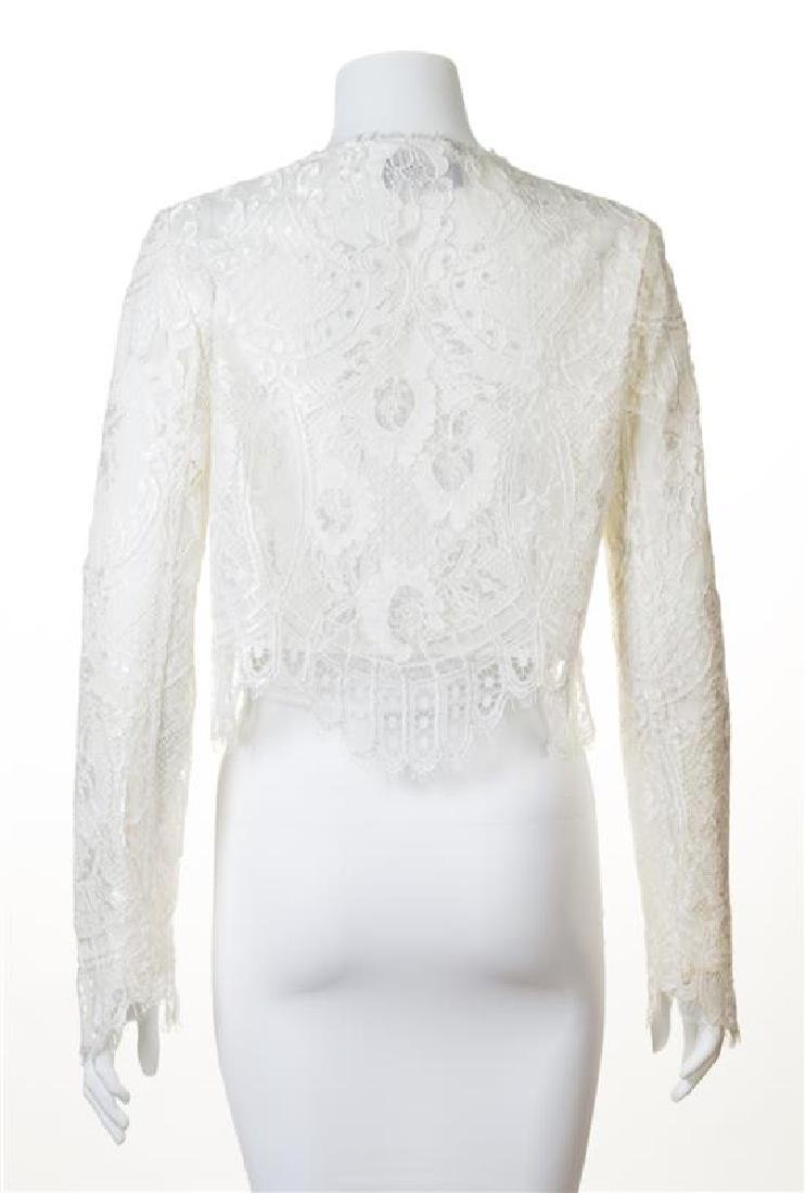 A Dolce & Gabbana Cream Lace Crop Jacket, - 2