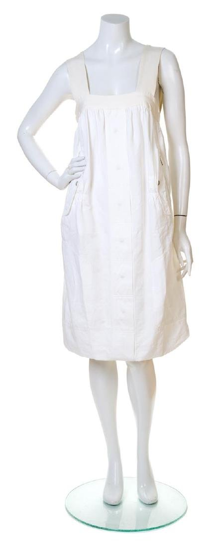 A Dries Van Noten White Cotton Dress,
