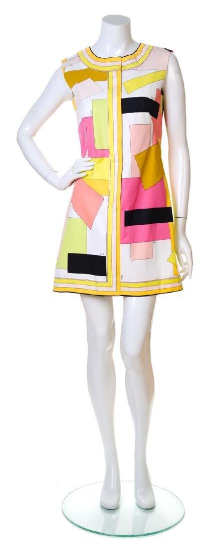 An Emilio Pucci Multicolor Geometric Print Cotton