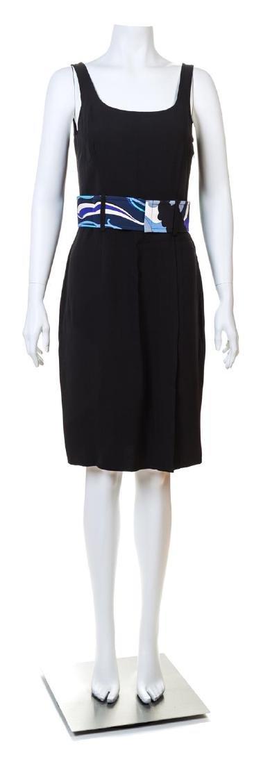 An Emilio Pucci Black Silk Sleeveless Dress,