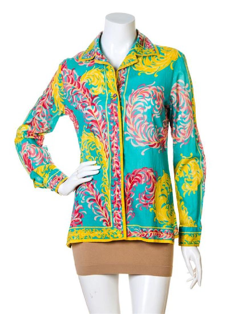 An Emilio Pucci Multicolor Cotton Tunic,
