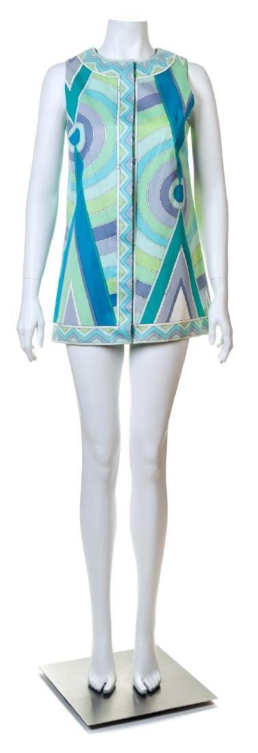 An Emilio Pucci Multicolor Cotton Sleeveless Tunic,