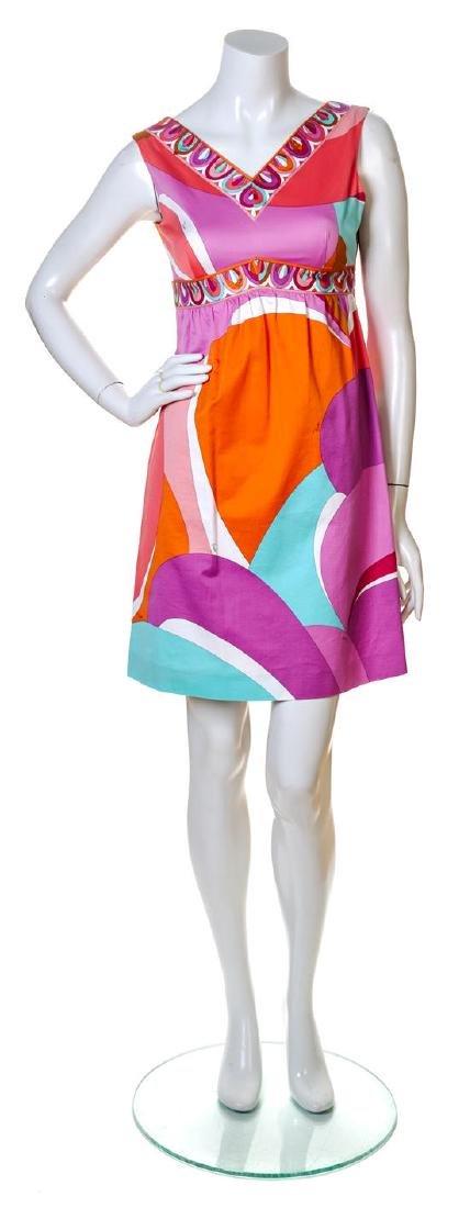 An Emilio Pucci Multicolor Cotton Dress,