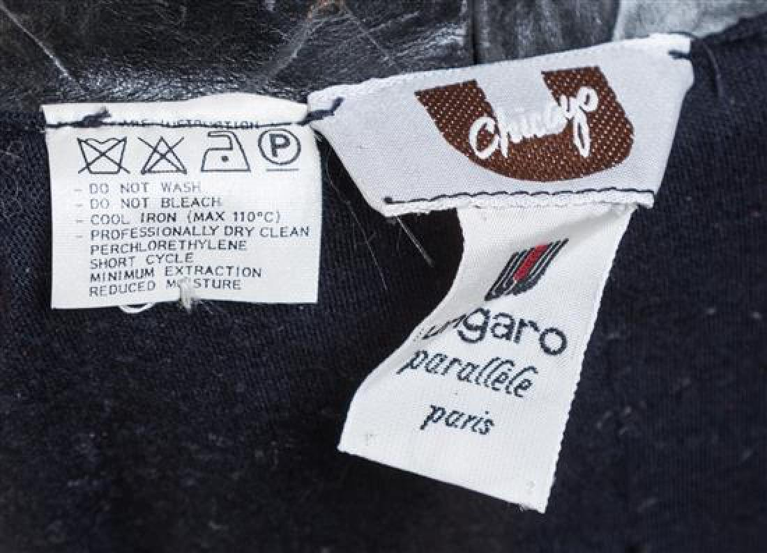 An Emanuel Ungaro Black Leather Embossed Jacket, - 3