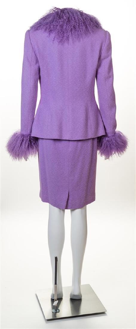 An Escada Lavender Wool Jacket and Skirt Ensemble, - 2