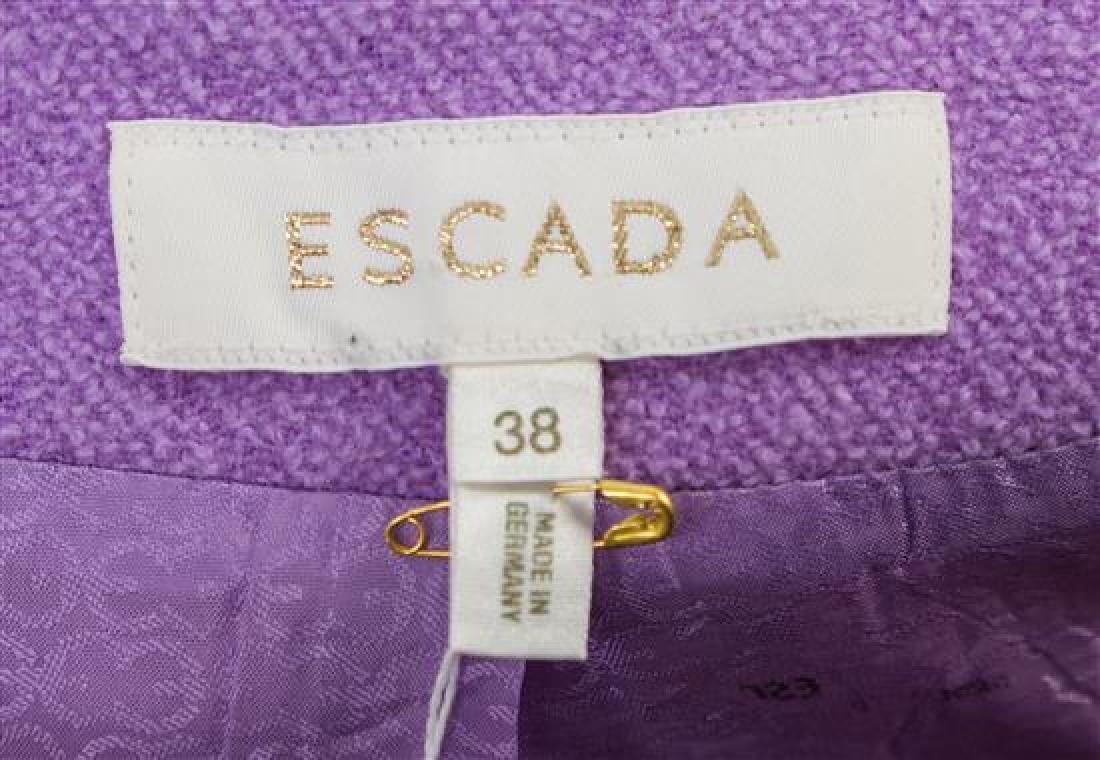 An Escada Lavender Wool Jacket and Skirt Ensemble, - 3
