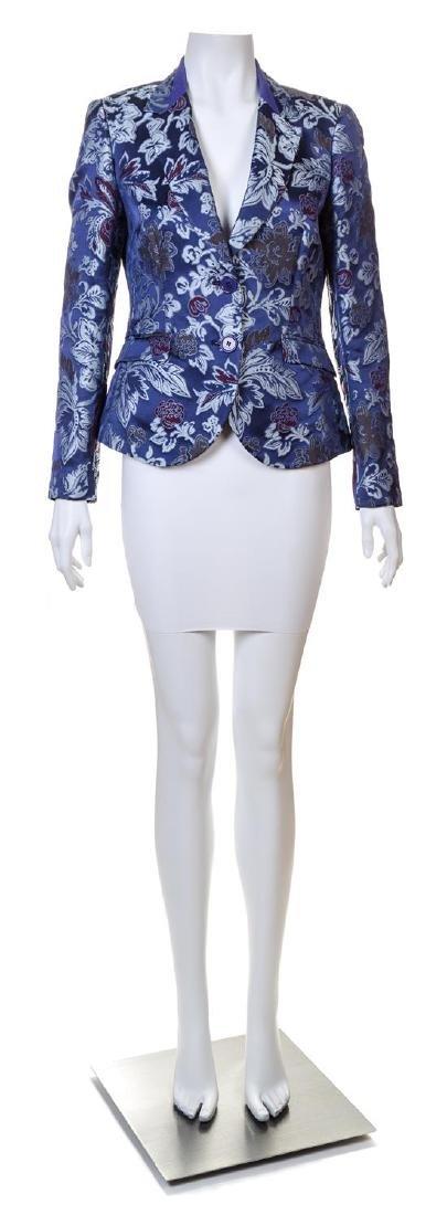An Etro Purple Silk Brocade Jacket,