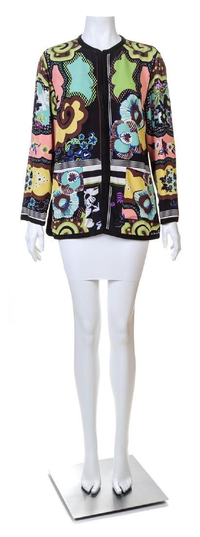 An Etro Multicolor Silk Jacket,