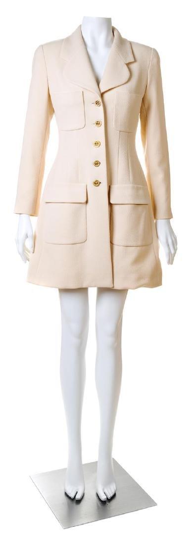 A Chanel Cream Wool Coat,