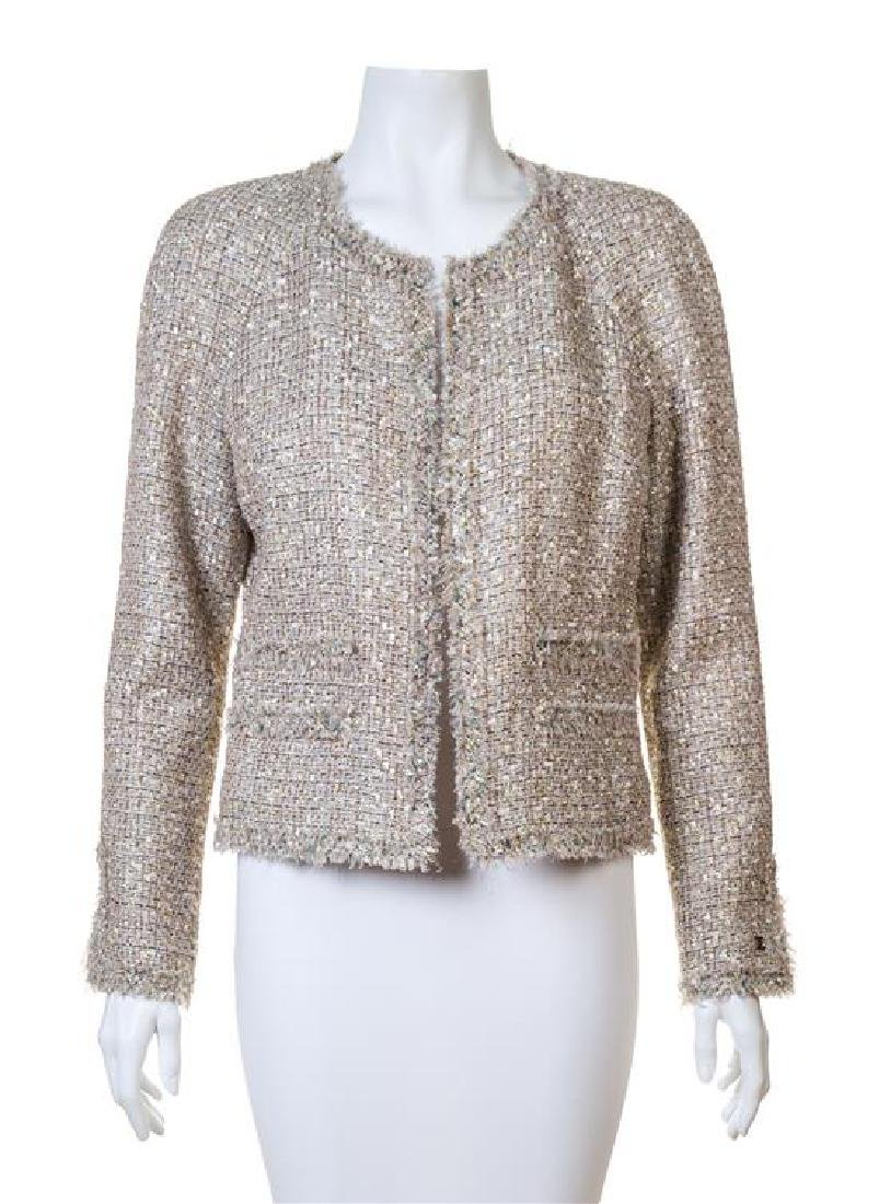 A Chanel Multicolor Boucle Shimmer Jacket,
