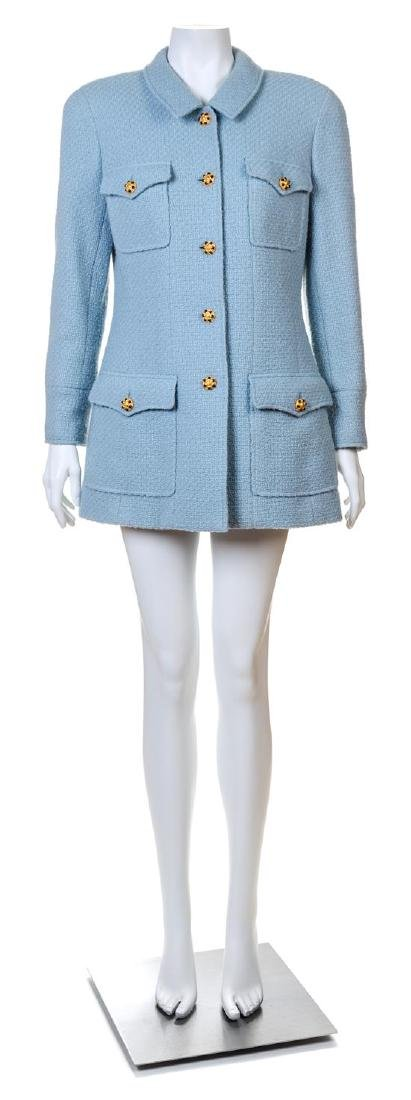 A Chanel Baby Blue Boucle Jacket,