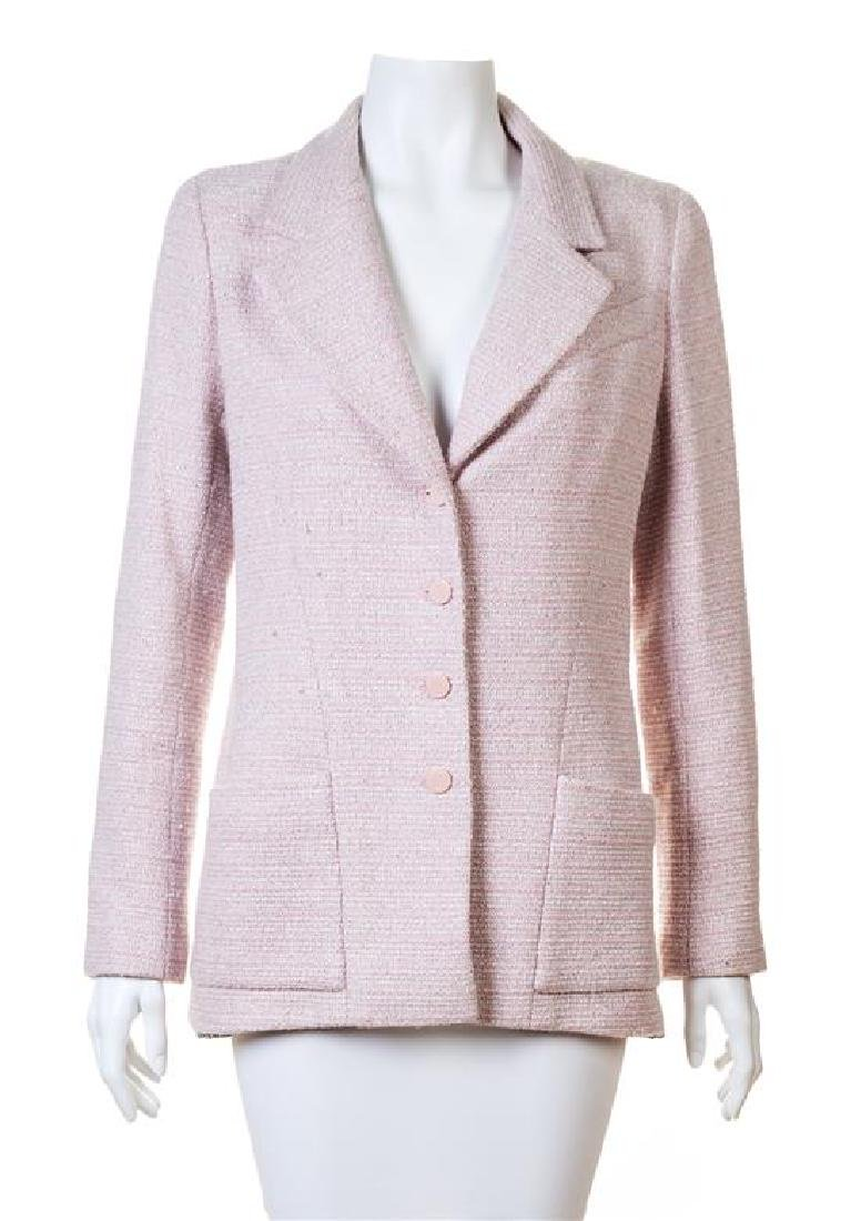 A Chanel Pink and White Tweed Jacket,