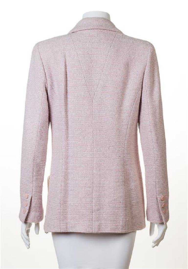 A Chanel Pink and White Tweed Jacket, - 2
