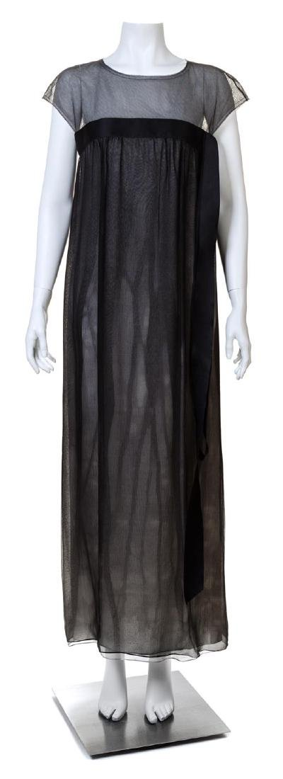 A Chanel Black Silk Column Gown,
