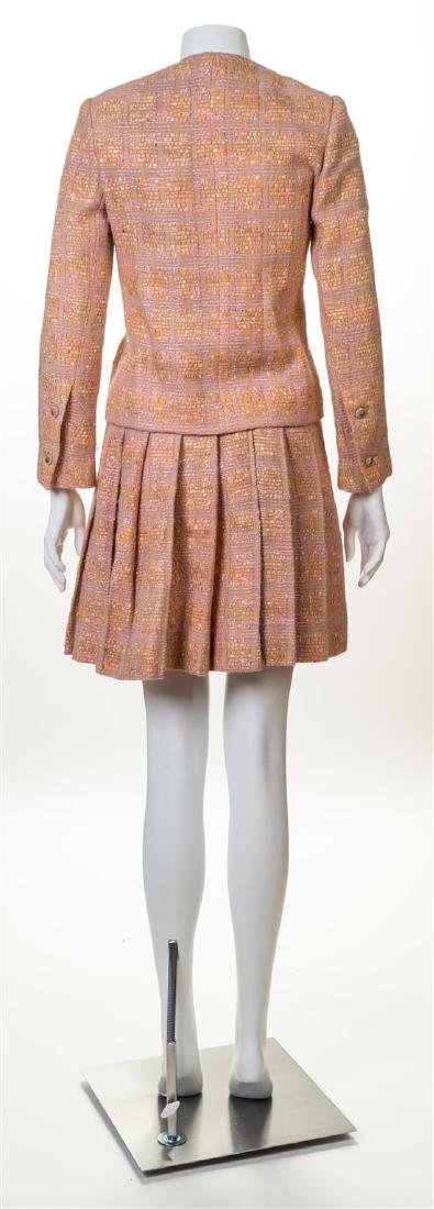 A Chanel Creations Dusty Rose Wool Skirt Ensemble, - 2