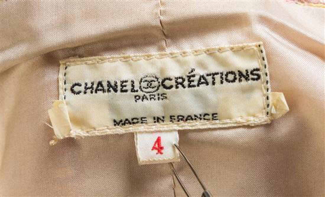 A Chanel Creations Dusty Rose Wool Skirt Ensemble, - 3