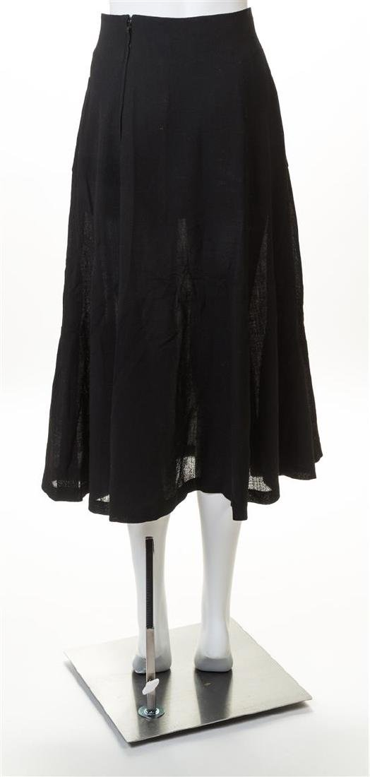 A Chanel Black Wool A-line Skirt, - 2