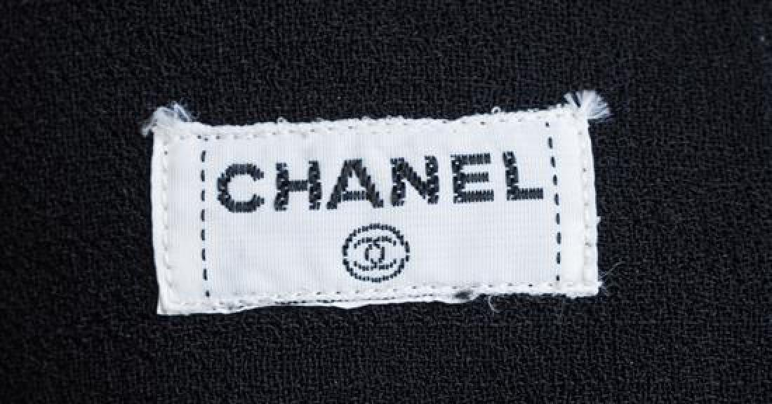 A Chanel Black Wool A-line Skirt, - 3