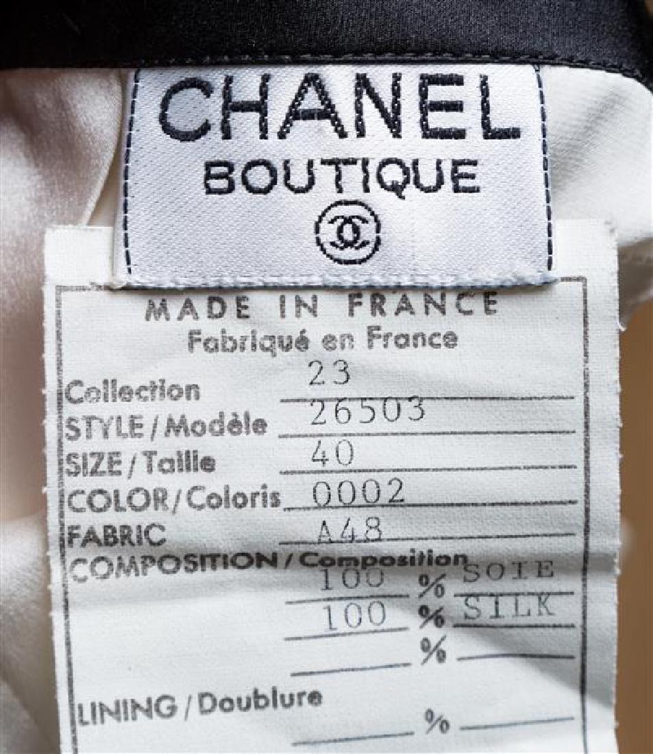 A Chanel Cream and Black Silk Camisole, - 2