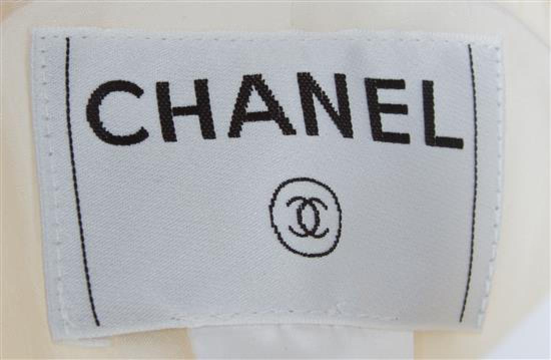 A Chanel Cream Ribbed Pant Suit, - 2