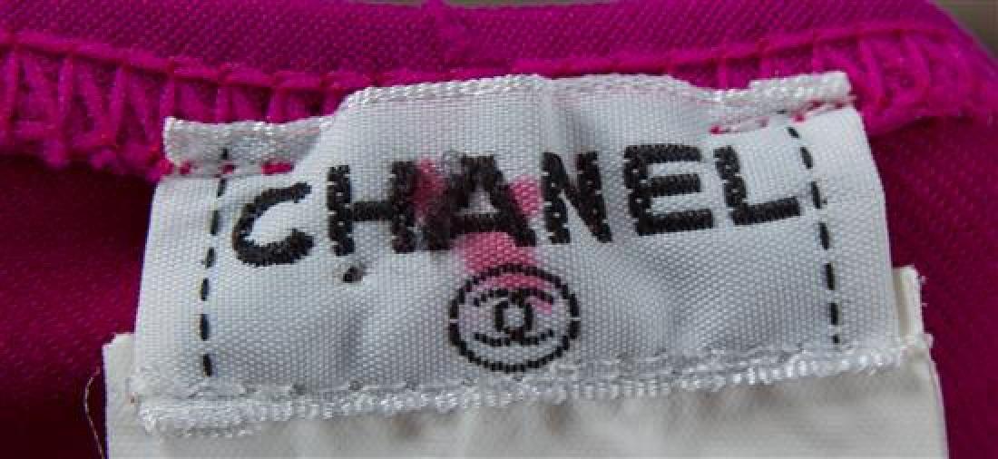A Chanel Fuschia Logo Unitard, - 2