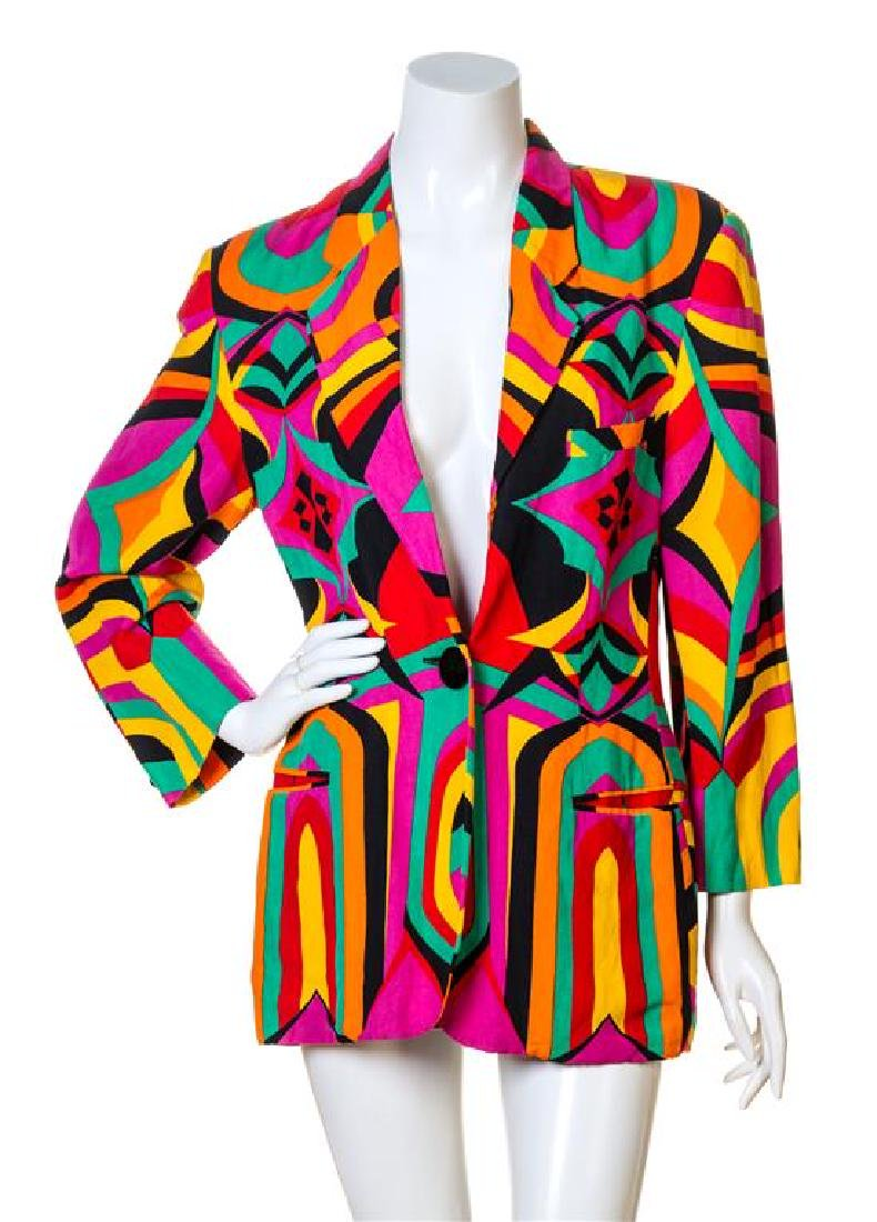 A Genny Multicolor Bold Abstract Print Jacket,