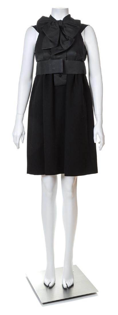 A Geoffrey Beene Black Wool Cocktail Dress,