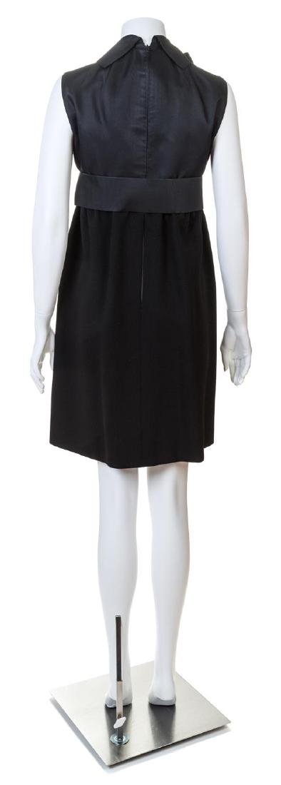 A Geoffrey Beene Black Wool Cocktail Dress, - 2