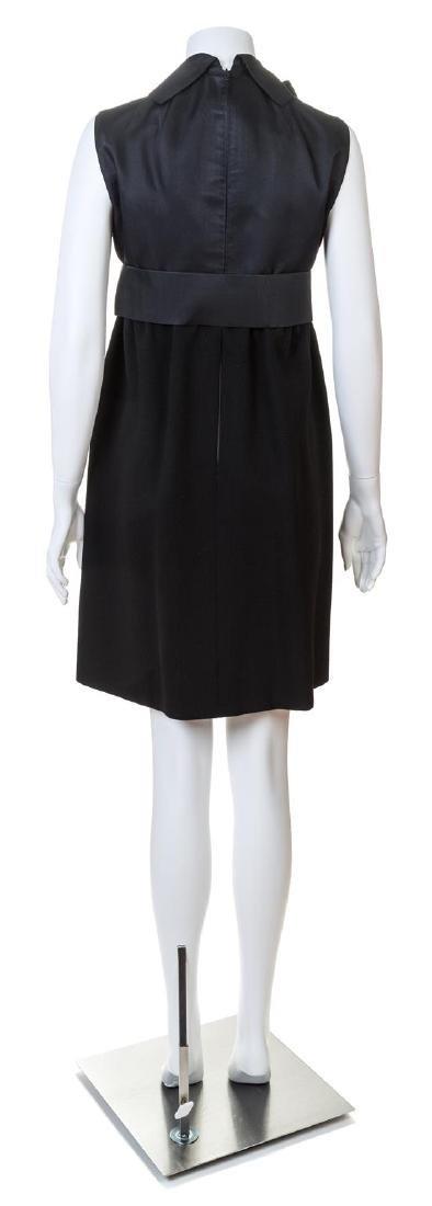 A Geoffrey Beene Black Wool Cocktail Dress, - 2