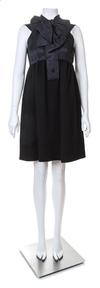 A Geoffrey Beene Black Wool Cocktail Dress, - 3