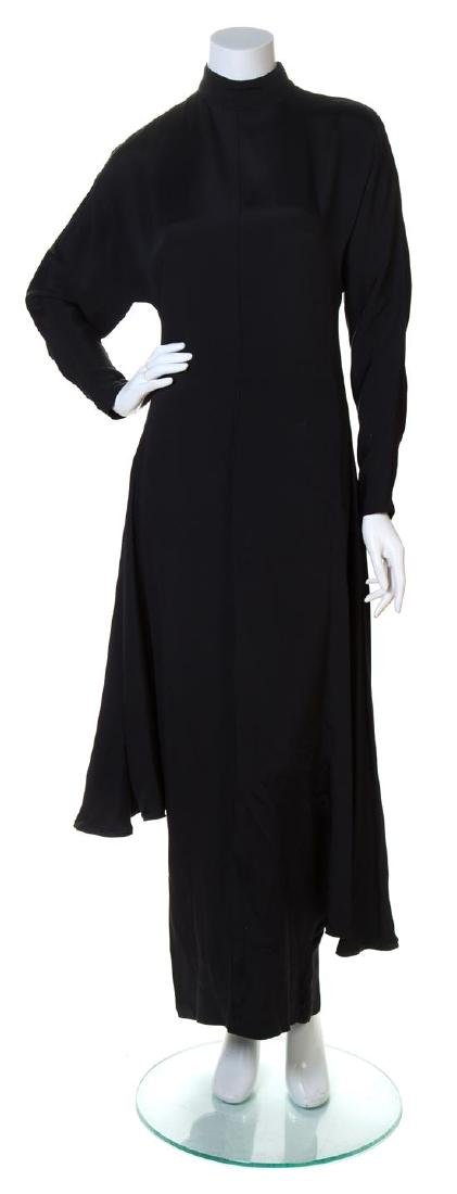 A Gianni Versace Black Silk Dress,