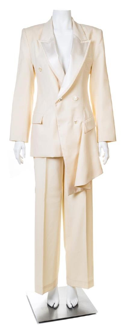 A Givenchy Ivory Wool Double Breasted Tuxedo,