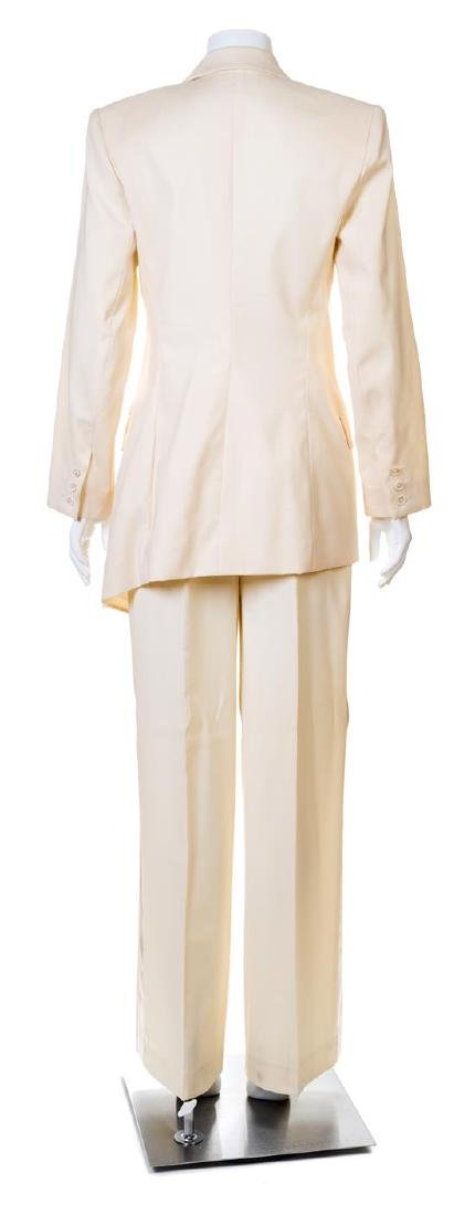 A Givenchy Ivory Wool Double Breasted Tuxedo, - 2