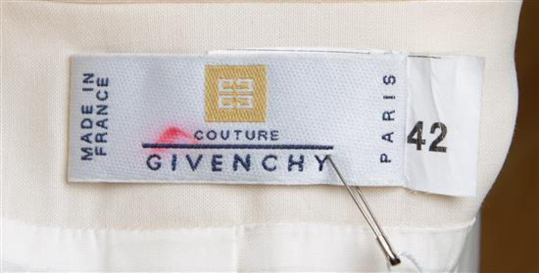 A Givenchy Ivory Wool Double Breasted Tuxedo, - 3
