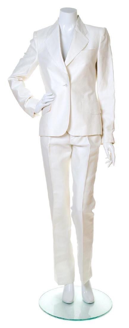 A Gucci White Pant Suit,