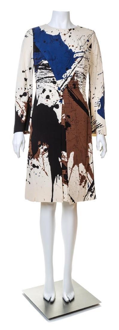 A Hanae Mori Silk Paint Splatter Dress,