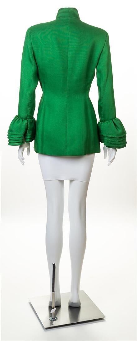 A Isaac Mizrahi Green Silk Jacket, - 2